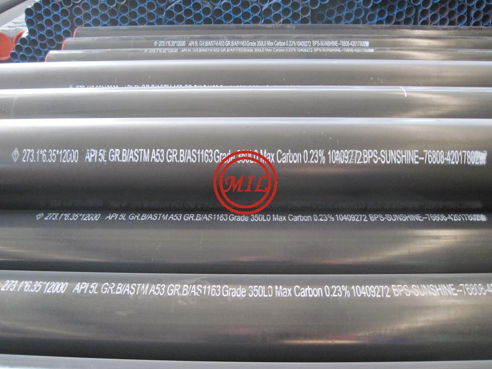 API 5L X42/ASTM A53 B/AS 1163 C350L0 ERW PIPE