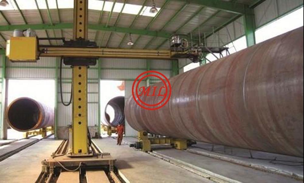 ASTM A572 GR.50 STEEL TUBULAR SHOTBLASTING