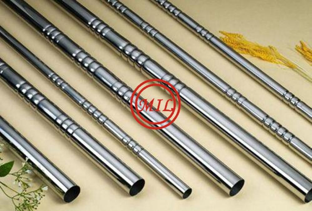 ASTM A554/EN 10296-2 Stainless Steel embosssed tube mirror finish