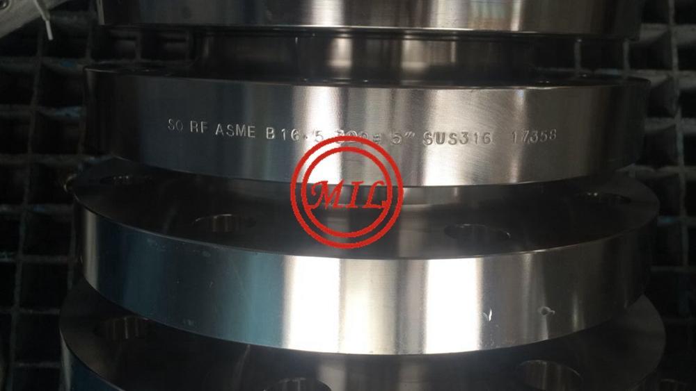 ASME B16.5 300# SUS316L SO RF STAINLESS STEEL FLANGES