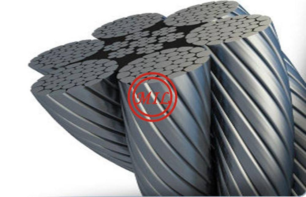 ASTM A416 Prestressed Steel Wire For Concrete , Galvanized 7 Wire Pc Strand