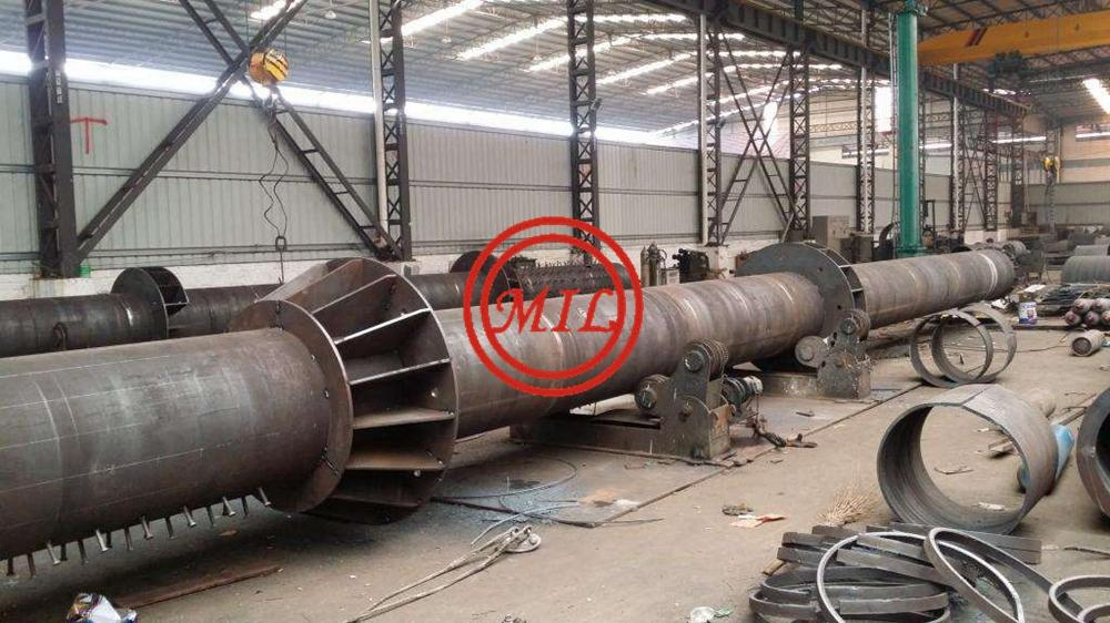 Galvanized conical polygonal electrict metal post steel pole