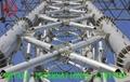 ASTM A595 A,ASTM A572 50/65,EN 10219 S355 STEEL TOWER,Electric Poles