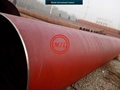 EN 10219-1/AWWA C200/ASTM A53B  Spiral Welded Steel Pipe 2220-18mm with anti-rust red paint