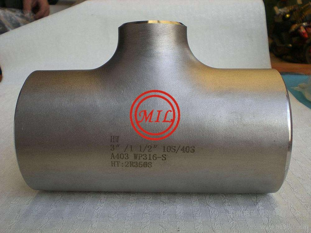 ASTM A403 WP316L STAINLESS STEE TEE