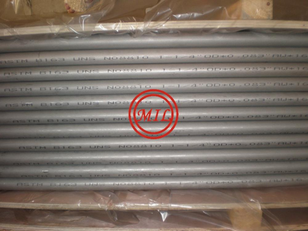 SEAMLESS NICKEL ALLOY TUBE ACC.TO ASTM B163 N08810 SIZE 31.75X2.11X5029MM