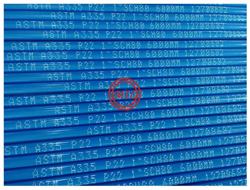 ASTM A335/ASME SA335高温用铁素体合金无缝钢管 5