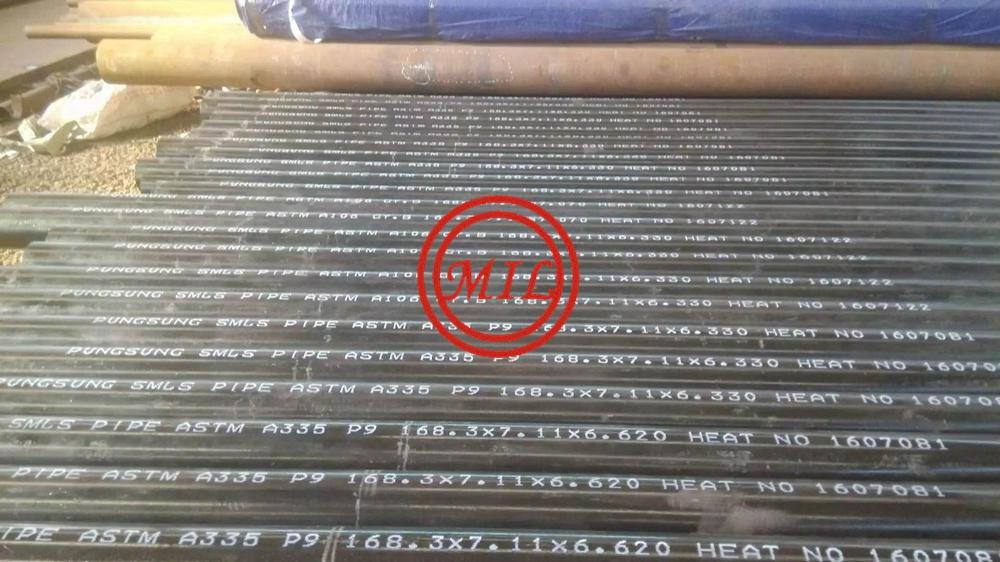 ASTM A335 P9 ALLOY STEEL SEAMLESS PIPE FOR HIGH-TEMPERATURE SERVICE