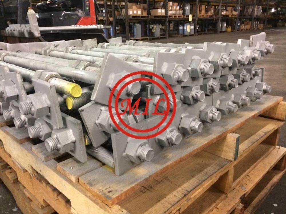 ASTM F1554 GR.55 HOT DIPPED ANCHOR BOLTS,DACLOMET