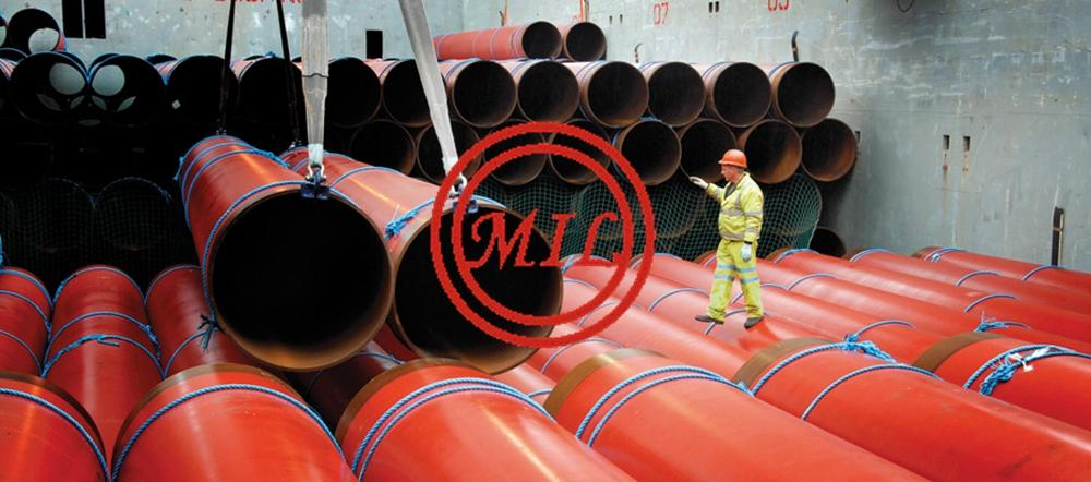 FBE COATED LSAW STEEL PIPE LOADING