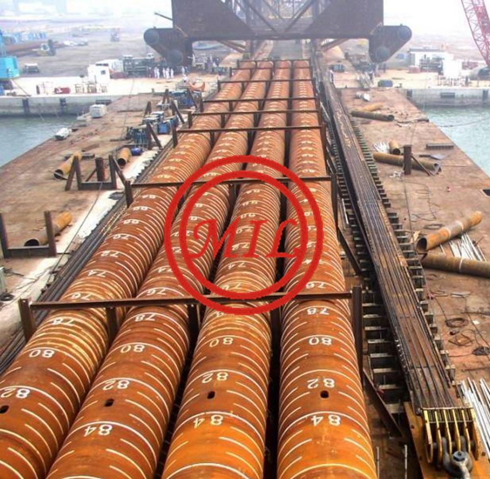 EN 10219-1 S450J0H/API 5L X65/AS 1163 C450L0 84M-LONG STEEL PIPE PILES FOR BRIDGE CONSTRUCTION