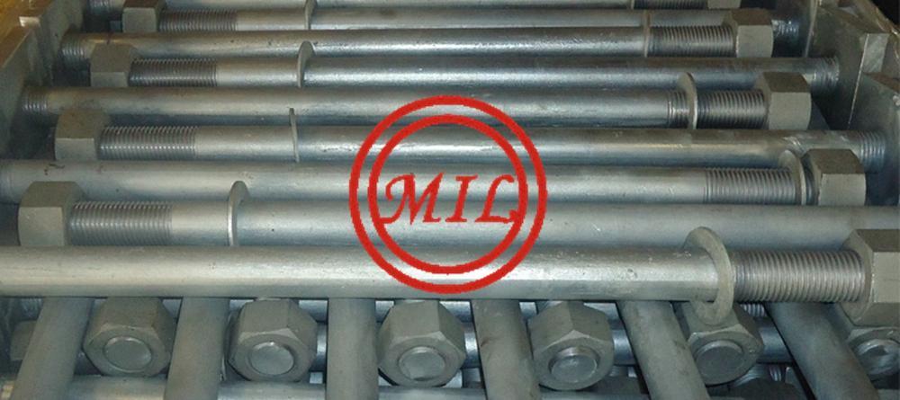 ASTM F1554 GR.55 ANCHOR BOLTS,GALVANIZED