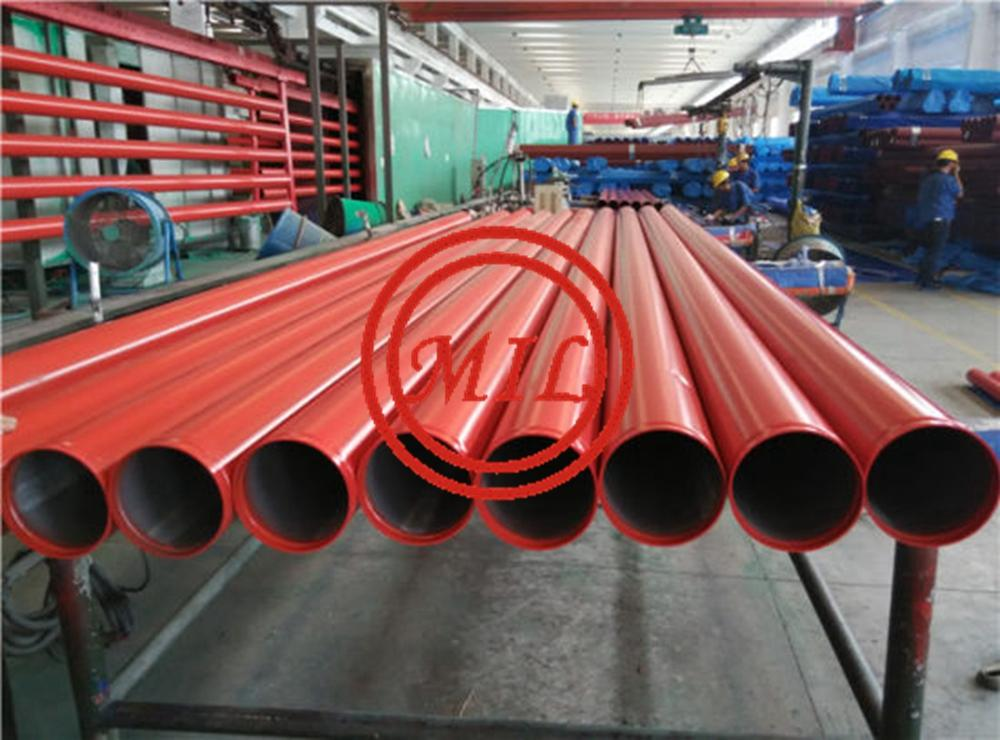 BS1387-Medium-Groove-Red-Painted-Fire-Protection-Fighting-Sprinkler-Steel-Pipe