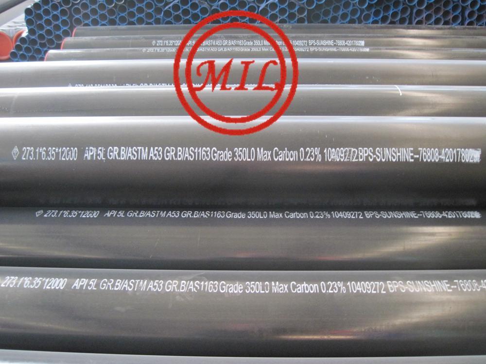 API 5L B PSL1/ASTM A53 B/AS 1163 C350L0 ERW PIPE