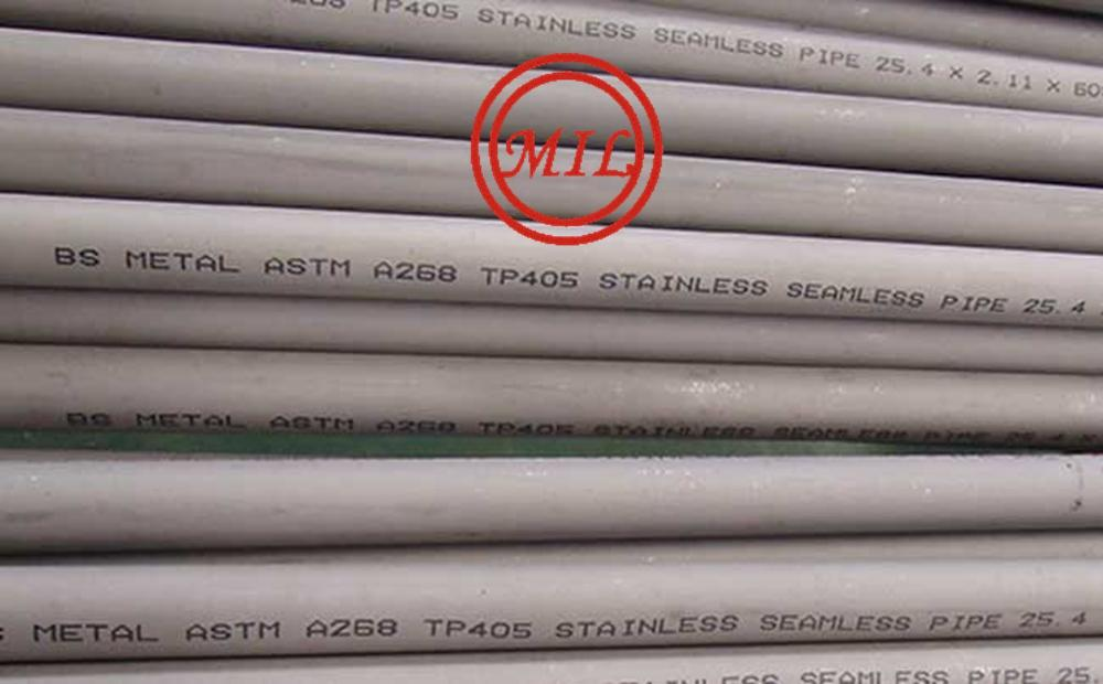 ASTM A268 TP405 STAINLESS SEAMLESS PIPE