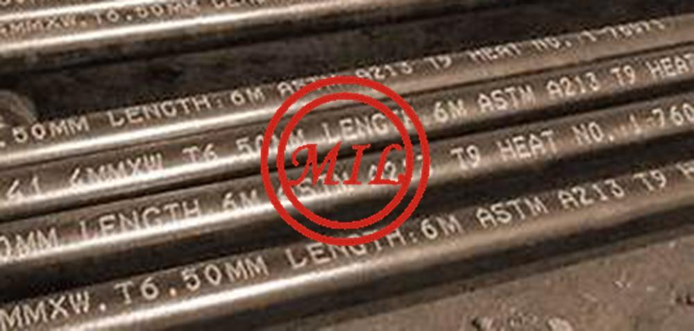 ASTM A213 T9 SEAMLESS STEEL TUBE FOR AIR HEATERS