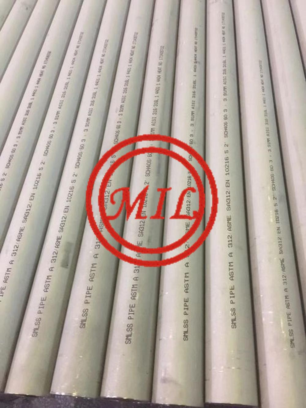 ASTM A312/ASME SA312/EN10216-5 SEAMLESS STAINLESS STEEL TUBE