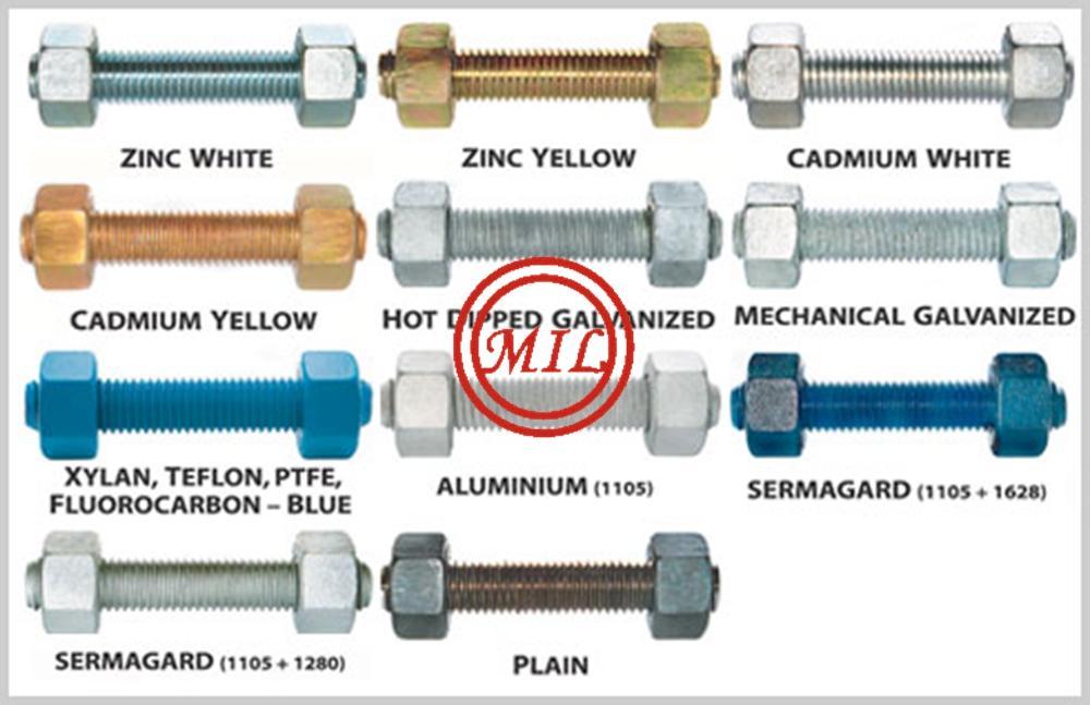 Dacromet, Delta seal, Gamar, Geomet, HDG or Electro plated