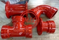 ASTM A536 FM & UL Ductile Iron Grooved Fitting &  Grooved Coupling