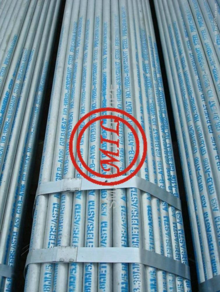 ASTM A53 B/ASTM A106 B SEAMLESS STEEL GALVANIZED PIPE