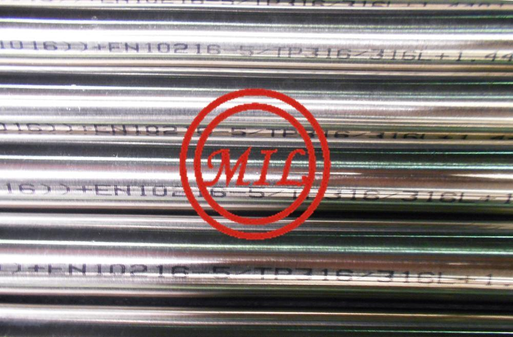 EN 10216-5 1.4301 polished stainless steel tubing