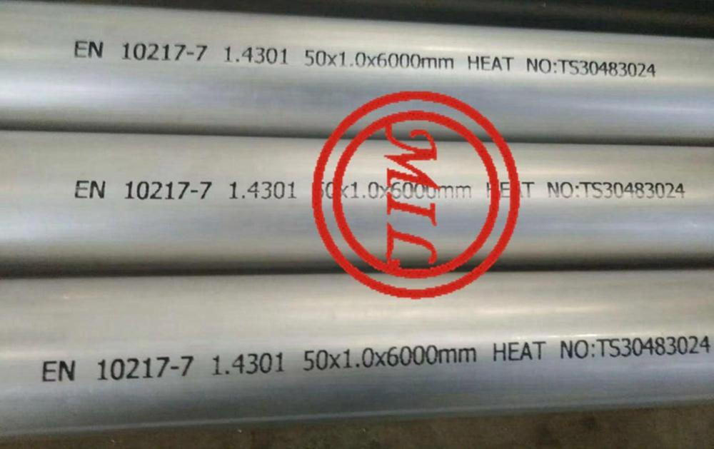 EN 10217-7 1.4301 WELDED STAINLESS STEEL TUBE
