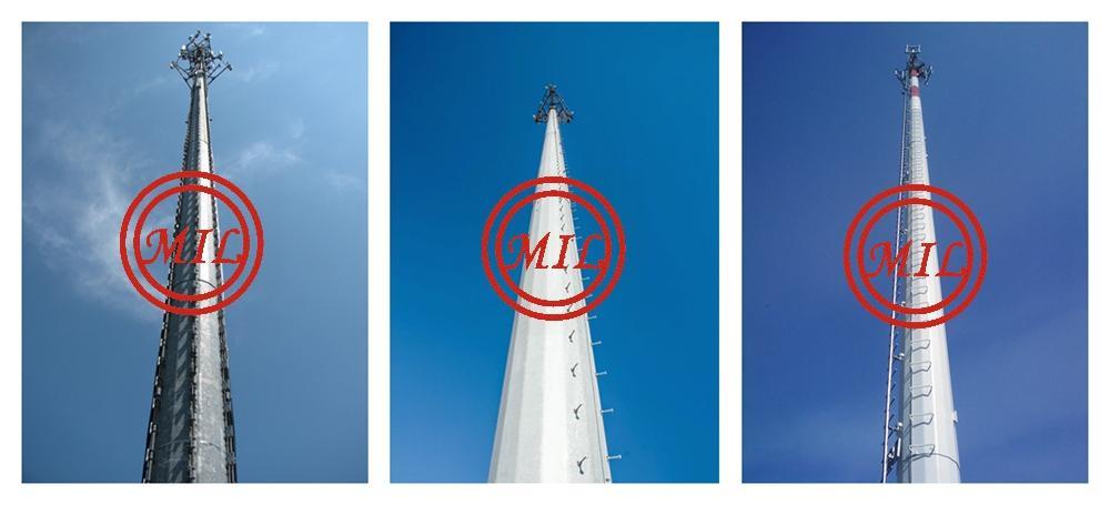 ASTM A595,DIN 4131,BS 8100,JIS G3444 Telecommunication Monopile,Antenna pole 11
