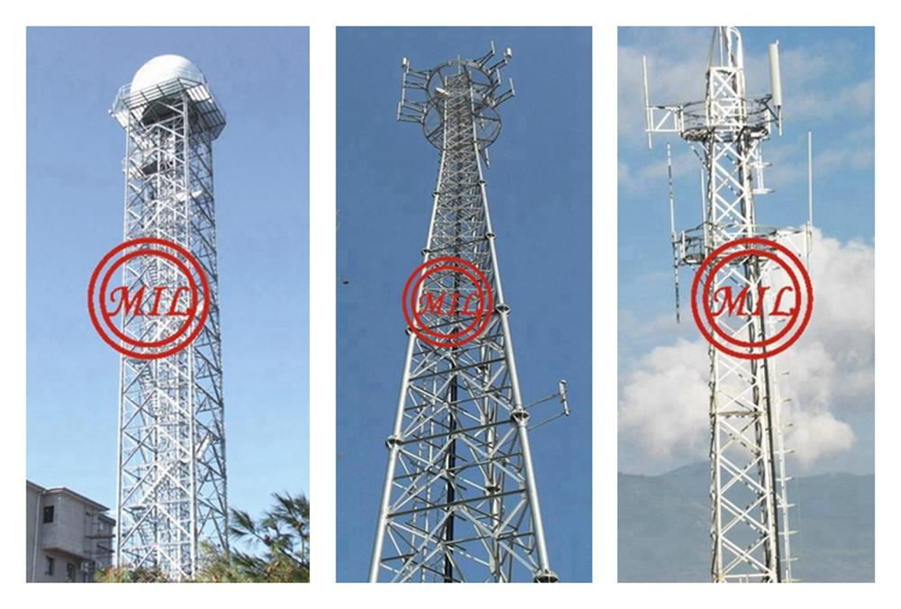 TELECOMMUNICATION TUBULAR STEEL LATTICE TOWER