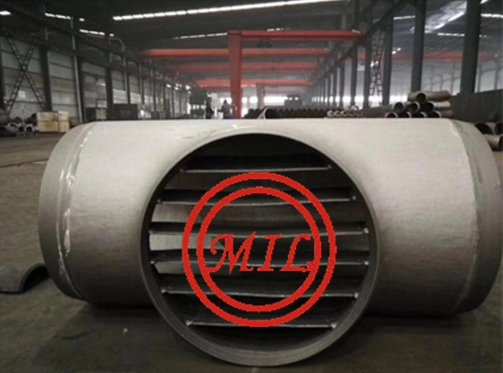 ASTM A860 WPHY65 Barred Tee DN750xWT14.3mm