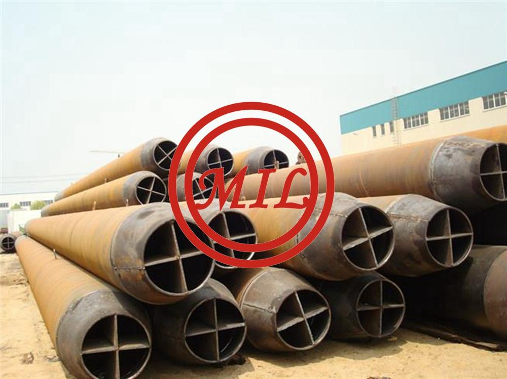 AS 1163 C350L0 STUCTURAL STEEL PIPE PILES WITH CROSS CONICAL POINTS