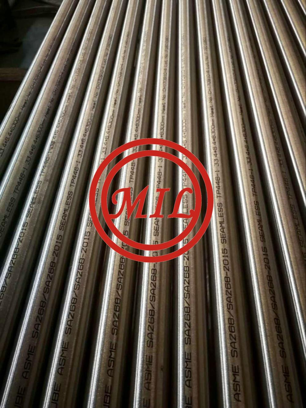 A268-TP446-1 FERRITIC STAINLESS STEEL SEAMLESS TUBE