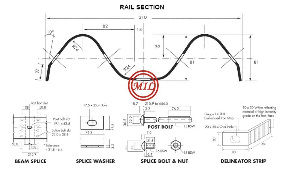 Guard Rail Section