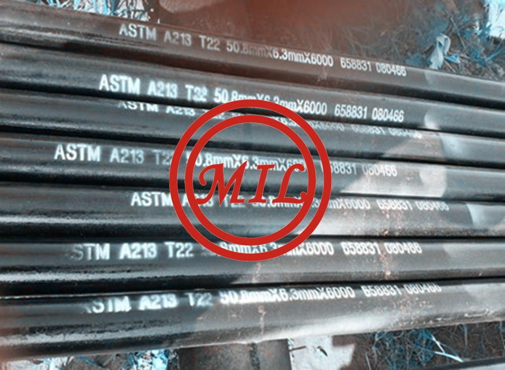 ASTM A213 T22 SEAMLESS ALLOY-STEEL BOILER TUBES