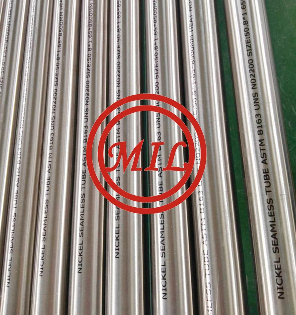 ASTM B163 N02200 Nickel Alloy Seamless Tube
