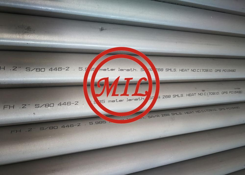 ASTM A268/SA268 TP446-2 High Chromium Ferritic seamless Stainless Steel Pipes, UNS S44600 Pipes/ 1.4762 tube