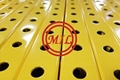 Perforated Square Steel Tubing - Yellow