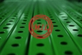 Perforated Square Steel Tubing - Green