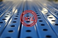 Perforated Square Steel Tubing - Blue
