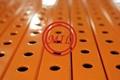 Perforated Square Steel Tubing - Orange