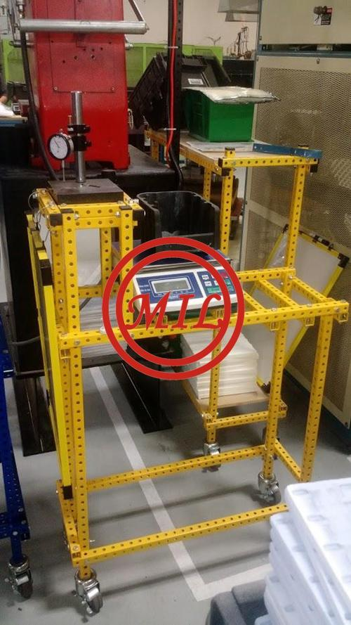 Cart in Yellow Powder Coatings
