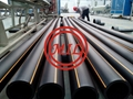ISO4427 water supply DN160 SDR11 Polyethylene pipe HDPE pipe and fittings