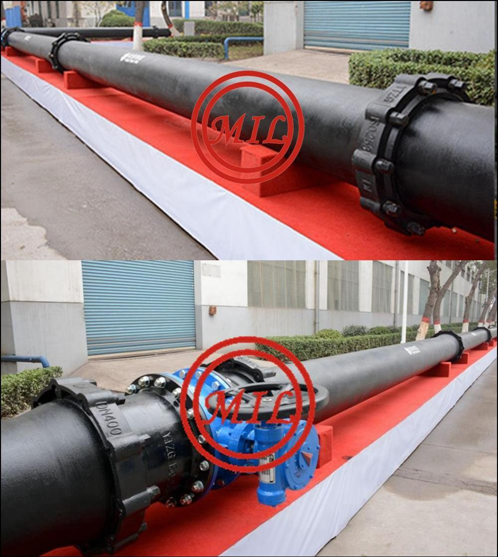Zinc Spraying Restrained Joint Ductile Iron Pipe K9 Class Cement Lining