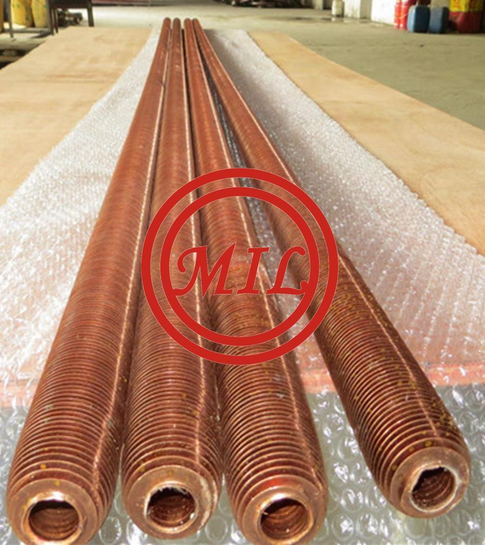 High Fin Seamless Copper Tube for Evaperators