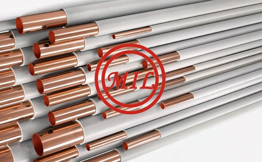 ASTM-B-75/68 UNS C12200+ASTM D1047 PVC Coated Copper Tubes