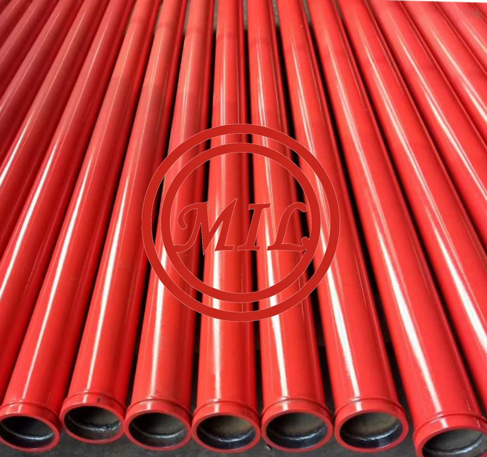 AS 1074 Red Paint Ral3000 Painted Fire Sprinkler Pipes