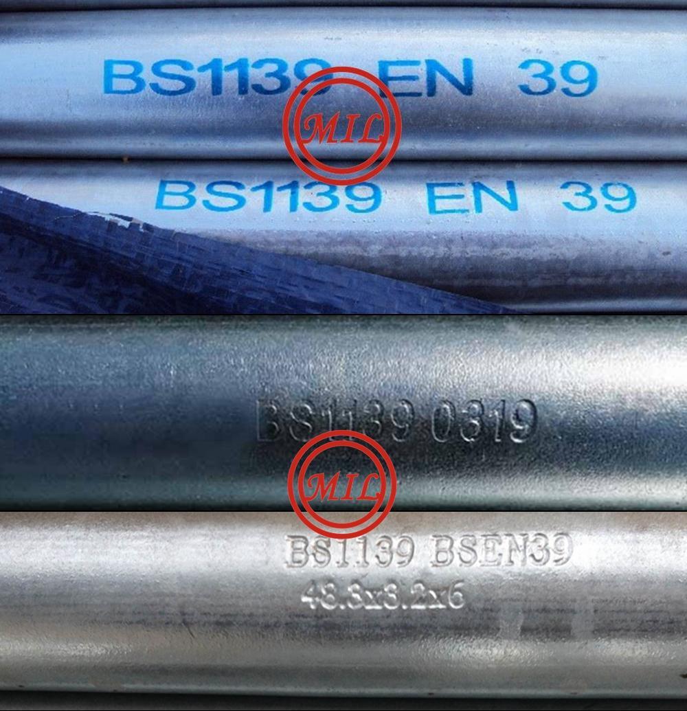 BS 1139/EN 39 Scaffolding Tube