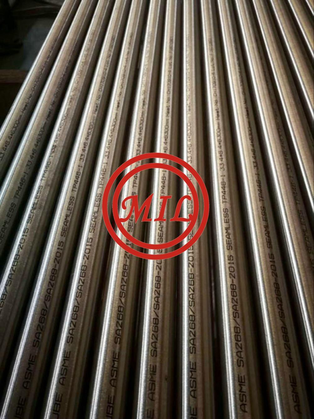 ASTM A268 TP446-1 High Chromium Ferritic seamless Stainless Steel Pipe, UNS S44600 Pipe 1.4762 tube