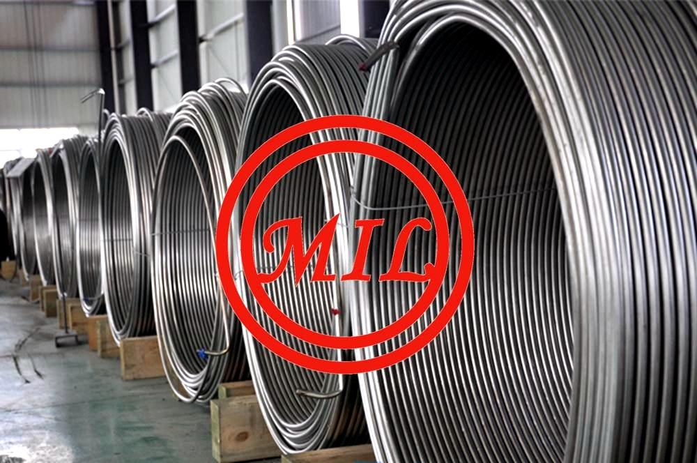 S30400/S30403 ASME SA269 Stainless Steel Welded Super Long Coiled Tube For Cable Industry