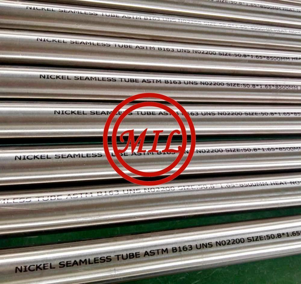 ASME SB163 UNS N02200 Seamless Alloy Tubes