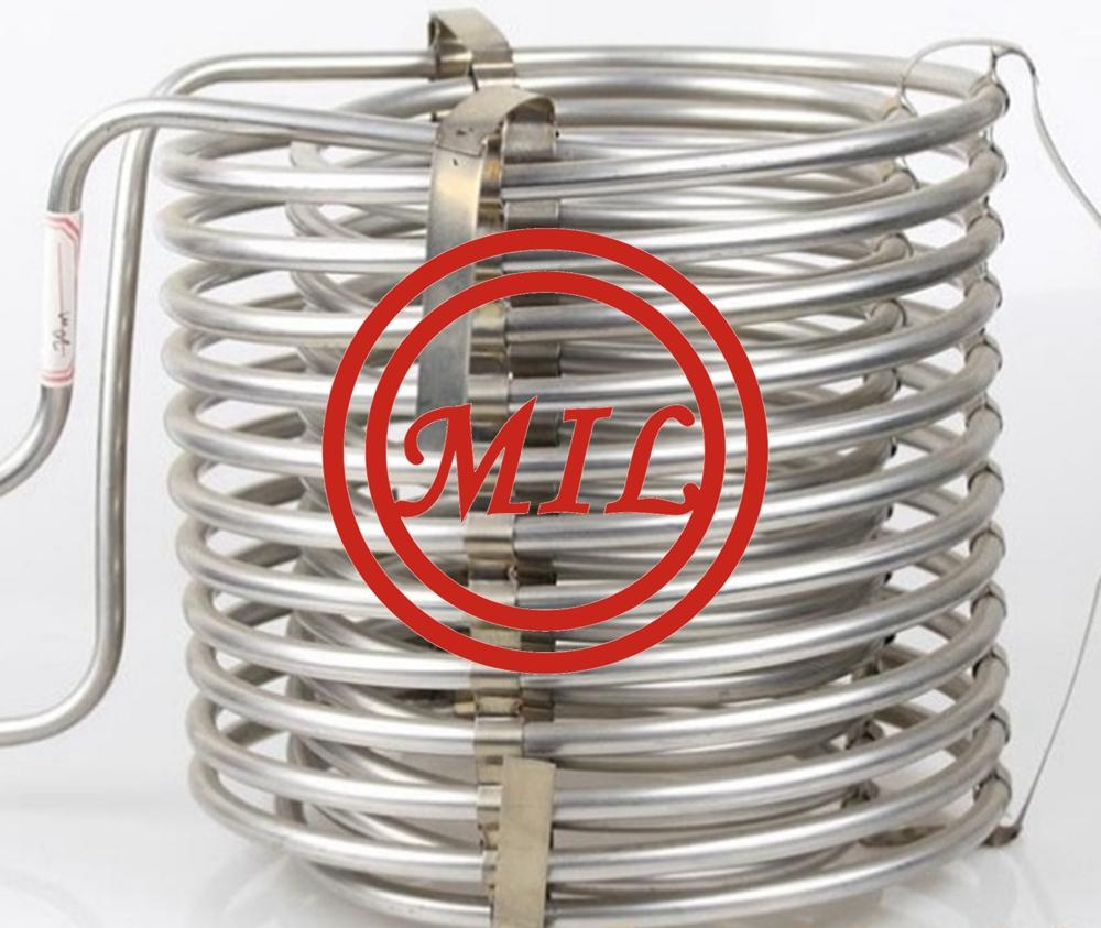 ASTM-B338-Gr-2 GR2 Titanium Coil Tubing Pure Titanium Coil Pipe For Chemical
